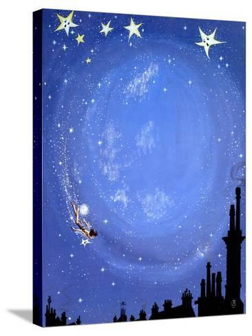 Illustration for 'Peter Pan' by J.M. Barrie-Anne Grahame Johnstone-Stretched Canvas Print