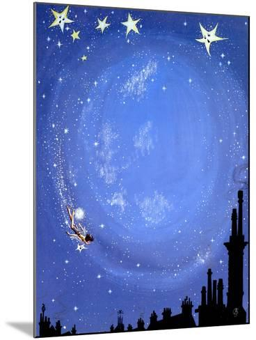 Illustration for 'Peter Pan' by J.M. Barrie-Anne Grahame Johnstone-Mounted Giclee Print