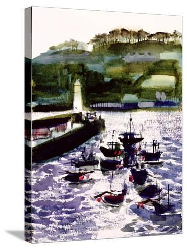 St. Ives Harbour, High Tide-Felicity House-Stretched Canvas Print