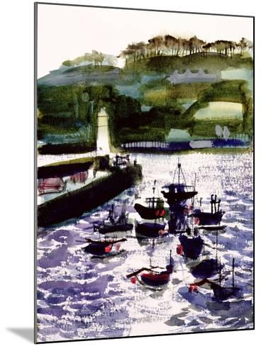 St. Ives Harbour, High Tide-Felicity House-Mounted Giclee Print