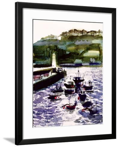 St. Ives Harbour, High Tide-Felicity House-Framed Art Print
