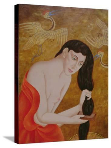 Woman Combing Her Hair, 1999-Patricia O'Brien-Stretched Canvas Print