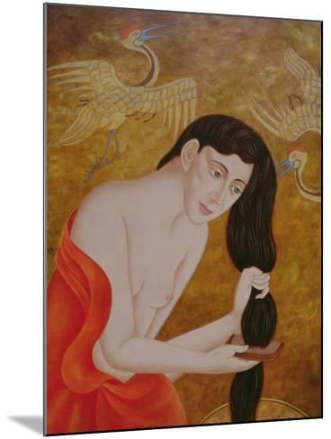 Woman Combing Her Hair, 1999-Patricia O'Brien-Mounted Giclee Print