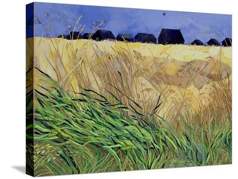Huts at Walberswick, Suffolk-Christine McKechnie-Stretched Canvas Print