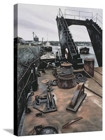 The Dredger, Penrhyn-Jane Carpanini-Stretched Canvas Print