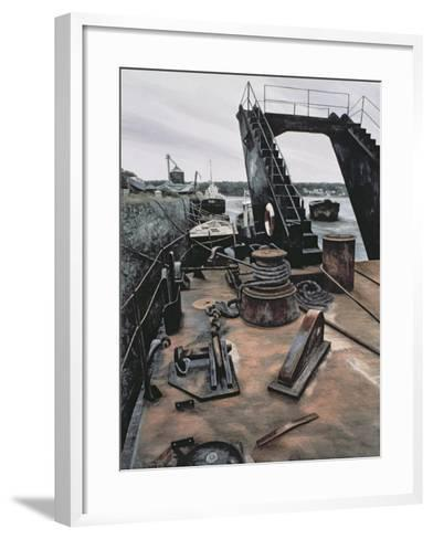 The Dredger, Penrhyn-Jane Carpanini-Framed Art Print