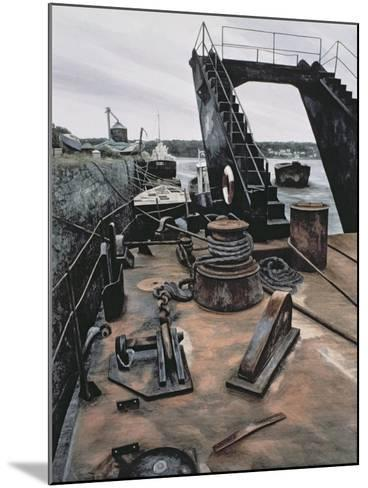 The Dredger, Penrhyn-Jane Carpanini-Mounted Giclee Print