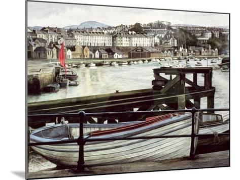The Red Sail, Caernarfon-Jane Carpanini-Mounted Giclee Print