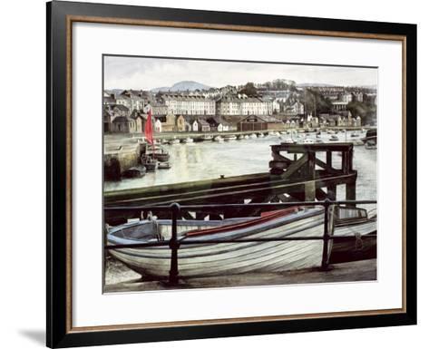 The Red Sail, Caernarfon-Jane Carpanini-Framed Art Print