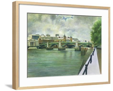 Southwark Bridge-Isabel Hutchison-Framed Art Print