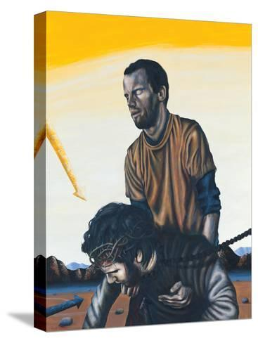 Stations of the Cross V: Simon the Cyrenean Helps Jesus, 2003-Chris Gollon-Stretched Canvas Print