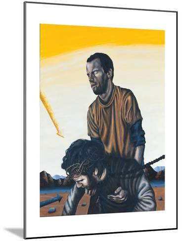Stations of the Cross V: Simon the Cyrenean Helps Jesus, 2003-Chris Gollon-Mounted Giclee Print
