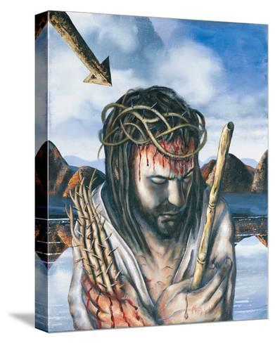 Jesus as the Man of Sorrows, 2003-Chris Gollon-Stretched Canvas Print