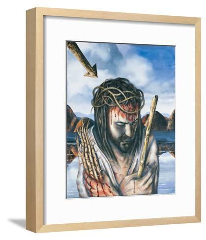 Jesus as the Man of Sorrows, 2003-Chris Gollon-Framed Art Print