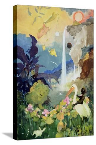 Fantasy Nature Scene-George Adamson-Stretched Canvas Print