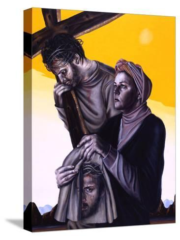 Stations of the Cross Vi: Veronica Wipes the Face of Jesus, 2005-Chris Gollon-Stretched Canvas Print
