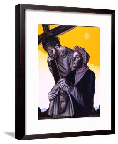 Stations of the Cross Vi: Veronica Wipes the Face of Jesus, 2005-Chris Gollon-Framed Art Print