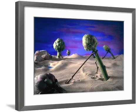 Art-ichoke (Dali) 1996-Norman Hollands-Framed Art Print