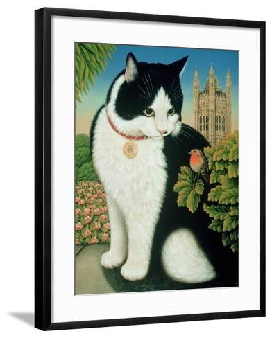 Humphrey, the Downing Street Cat, 1995-Frances Broomfield-Framed Art Print