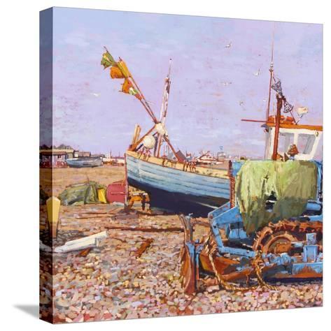 Clear Blue Day (Aldeburgh Beach) 2006-Martin Decent-Stretched Canvas Print