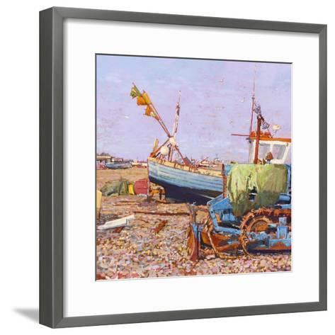 Clear Blue Day (Aldeburgh Beach) 2006-Martin Decent-Framed Art Print