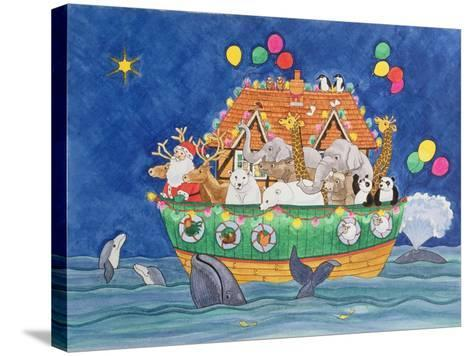 Santa's Ark-Linda Benton-Stretched Canvas Print