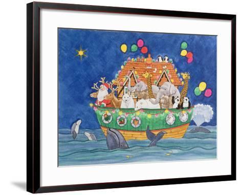 Santa's Ark-Linda Benton-Framed Art Print