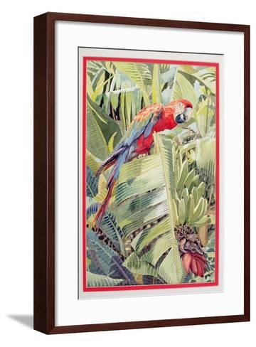 Jungle Parrot-Felicity House-Framed Art Print