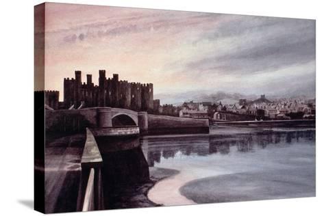 Conwy Bridge-Jane Carpanini-Stretched Canvas Print