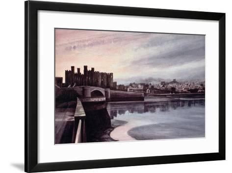 Conwy Bridge-Jane Carpanini-Framed Art Print