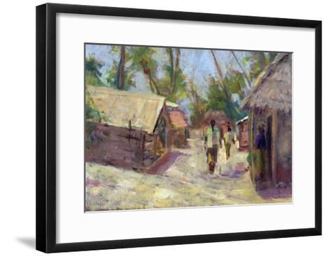 Zanzibar Village, 2001-Karen Armitage-Framed Art Print