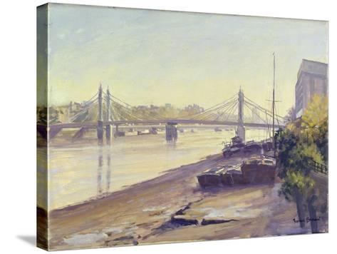 Albert Bridge-Julian Barrow-Stretched Canvas Print