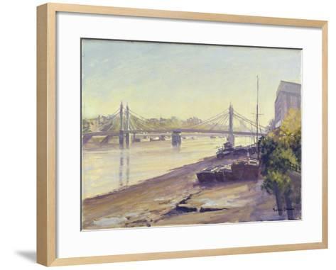 Albert Bridge-Julian Barrow-Framed Art Print