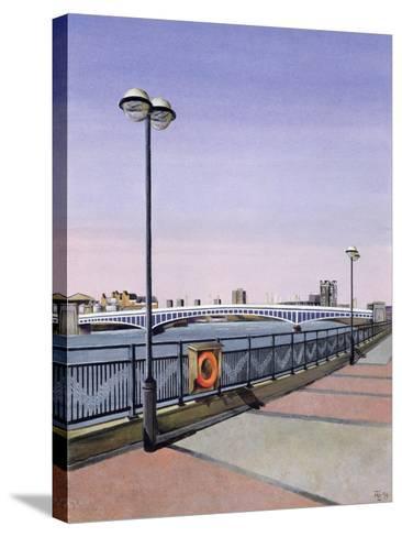 Wandsworth Bridge, 1994-Isabel Hutchison-Stretched Canvas Print