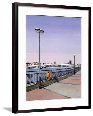 Wandsworth Bridge, 1994-Isabel Hutchison-Framed Art Print