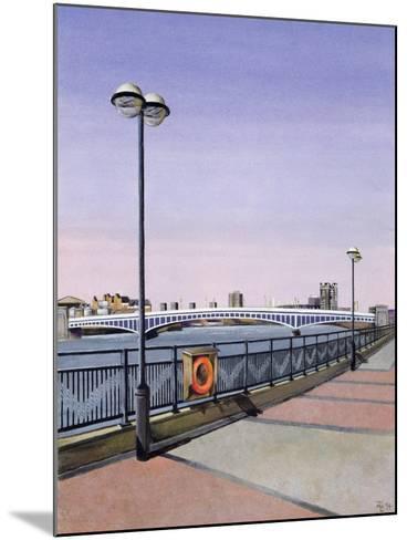 Wandsworth Bridge, 1994-Isabel Hutchison-Mounted Giclee Print