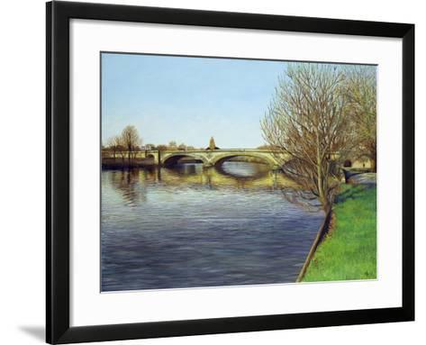 Kew Bridge, 1993-Isabel Hutchison-Framed Art Print