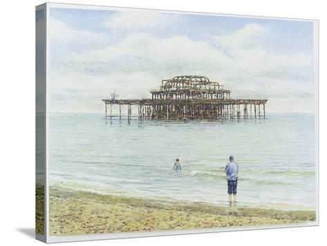 Brighton West Pier, 2004-Tom Young-Stretched Canvas Print