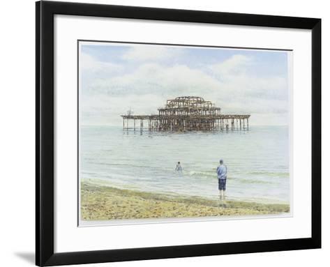 Brighton West Pier, 2004-Tom Young-Framed Art Print