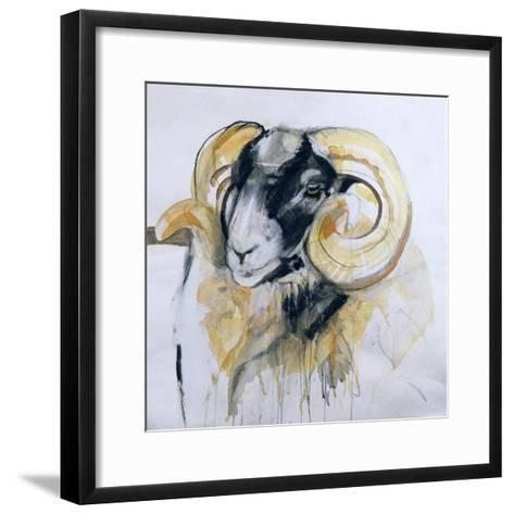 Long Horn Sheep-Lou Gibbs-Framed Art Print