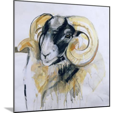 Long Horn Sheep-Lou Gibbs-Mounted Giclee Print