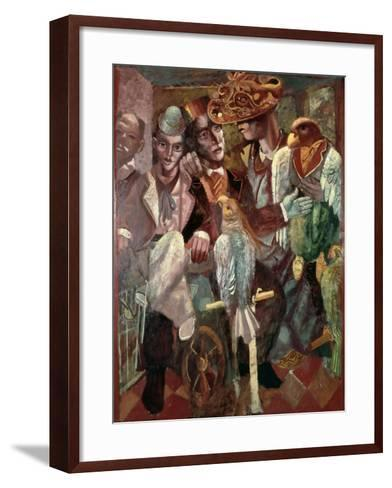 The Ventriloquist, 1987-Michael Rooney-Framed Art Print