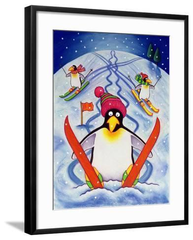 Skiing Holiday, 2000-Cathy Baxter-Framed Art Print