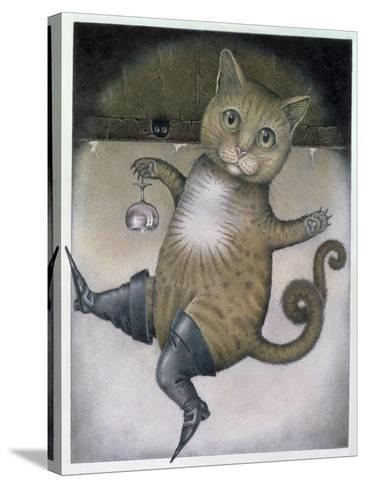 Puss in Boots Doing a Somersault-Wayne Anderson-Stretched Canvas Print
