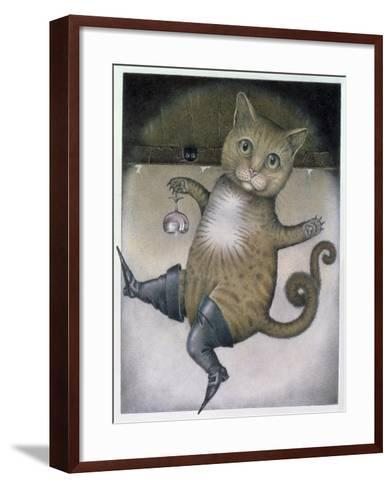 Puss in Boots Doing a Somersault-Wayne Anderson-Framed Art Print