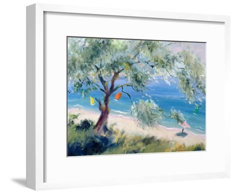 Looking on to a Beach-Anne Durham-Framed Art Print