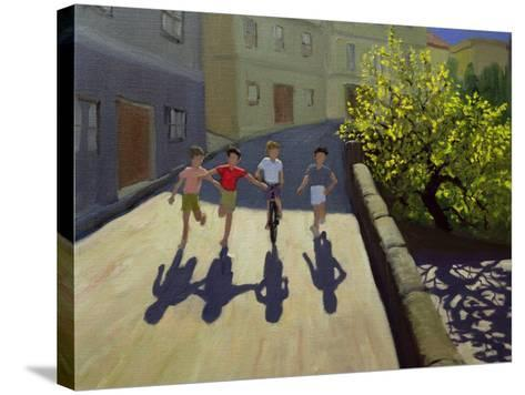 Children Running, Lesbos, 1999-Andrew Macara-Stretched Canvas Print