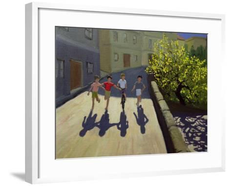 Children Running, Lesbos, 1999-Andrew Macara-Framed Art Print