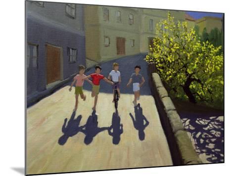 Children Running, Lesbos, 1999-Andrew Macara-Mounted Giclee Print