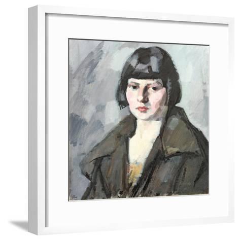 Head of a Young Girl, C.1920-Samuel John Peploe-Framed Art Print